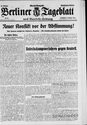 Berliner Tageblatt und Handels-Zeitung vom 05.02.1927