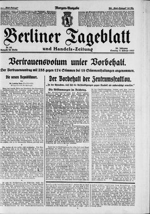 Berliner Tageblatt und Handels-Zeitung vom 06.02.1927