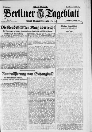 Berliner Tageblatt und Handels-Zeitung vom 07.02.1927