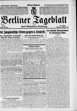 Berliner Tageblatt und Handels-Zeitung vom 08.02.1927