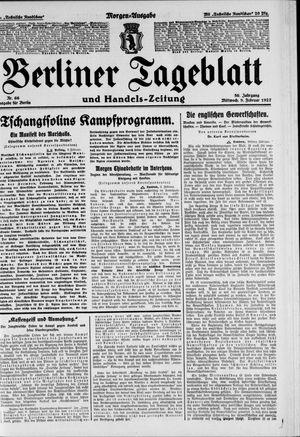 Berliner Tageblatt und Handels-Zeitung vom 09.02.1927
