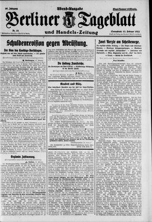 Berliner Tageblatt und Handels-Zeitung vom 12.02.1927
