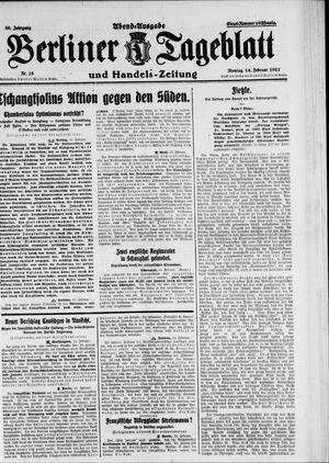Berliner Tageblatt und Handels-Zeitung vom 14.02.1927