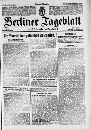 Berliner Tageblatt und Handels-Zeitung vom 16.02.1927