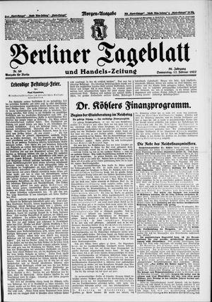 Berliner Tageblatt und Handels-Zeitung vom 17.02.1927