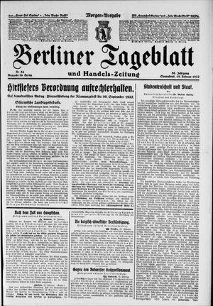 Berliner Tageblatt und Handels-Zeitung vom 19.02.1927