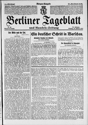 Berliner Tageblatt und Handels-Zeitung vom 20.02.1927