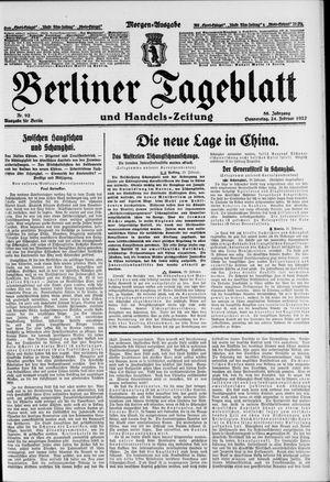 Berliner Tageblatt und Handels-Zeitung vom 24.02.1927