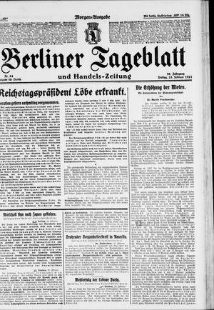 Berliner Tageblatt und Handels-Zeitung vom 25.02.1927