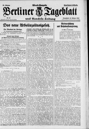 Berliner Tageblatt und Handels-Zeitung vom 26.02.1927