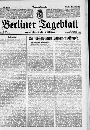 Berliner Tageblatt und Handels-Zeitung vom 27.02.1927