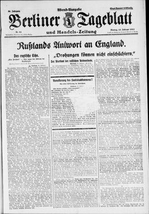 Berliner Tageblatt und Handels-Zeitung vom 28.02.1927