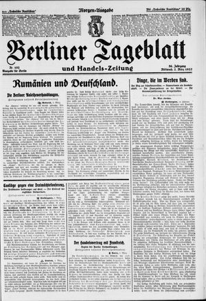 Berliner Tageblatt und Handels-Zeitung vom 02.03.1927