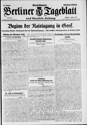 Berliner Tageblatt und Handels-Zeitung vom 07.03.1927
