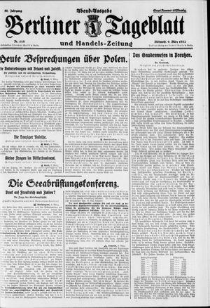 Berliner Tageblatt und Handels-Zeitung vom 09.03.1927