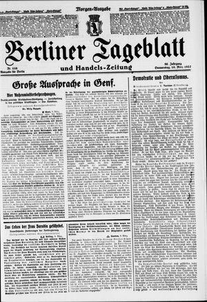 Berliner Tageblatt und Handels-Zeitung vom 10.03.1927