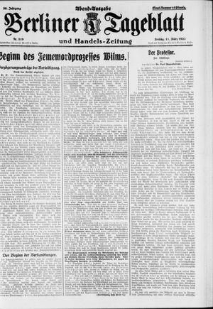 Berliner Tageblatt und Handels-Zeitung vom 11.03.1927