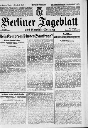 Berliner Tageblatt und Handels-Zeitung vom 12.03.1927