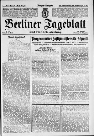 Berliner Tageblatt und Handels-Zeitung vom 15.03.1927