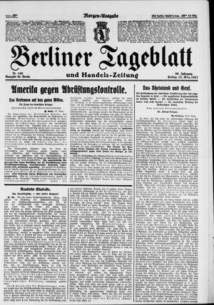 Berliner Tageblatt und Handels-Zeitung vom 18.03.1927