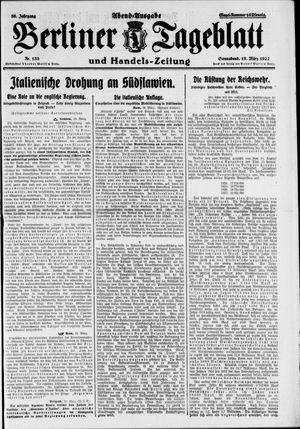 Berliner Tageblatt und Handels-Zeitung vom 19.03.1927