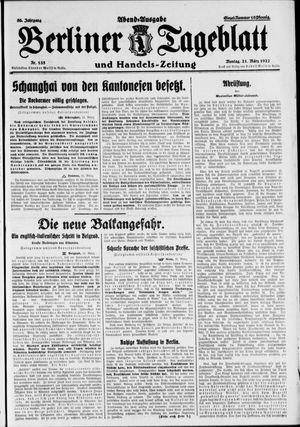 Berliner Tageblatt und Handels-Zeitung vom 21.03.1927