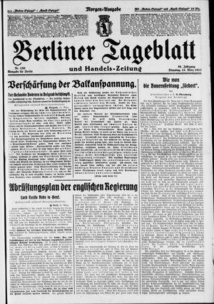 Berliner Tageblatt und Handels-Zeitung vom 22.03.1927