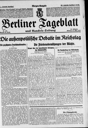 Berliner Tageblatt und Handels-Zeitung vom 23.03.1927