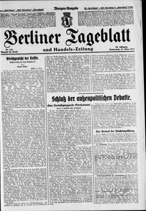 Berliner Tageblatt und Handels-Zeitung vom 24.03.1927