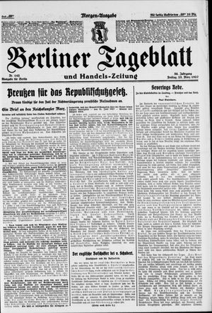 Berliner Tageblatt und Handels-Zeitung vom 25.03.1927