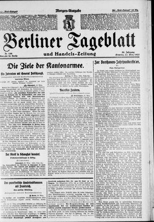 Berliner Tageblatt und Handels-Zeitung vom 27.03.1927