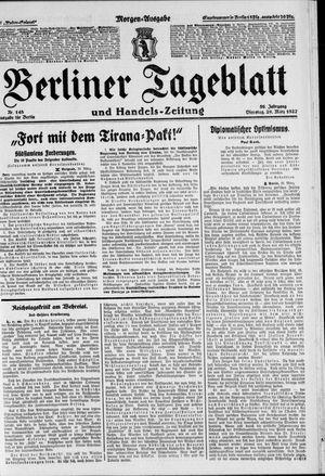 Berliner Tageblatt und Handels-Zeitung vom 29.03.1927