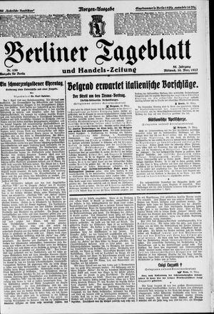 Berliner Tageblatt und Handels-Zeitung vom 30.03.1927