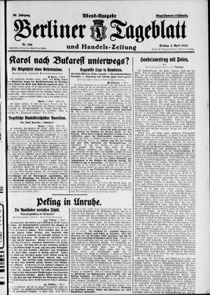 Berliner Tageblatt und Handels-Zeitung vom 04.04.1927