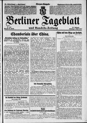 Berliner Tageblatt und Handels-Zeitung vom 05.04.1927
