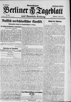 Berliner Tageblatt und Handels-Zeitung vom 06.04.1927