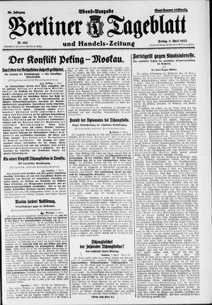 Berliner Tageblatt und Handels-Zeitung vom 08.04.1927