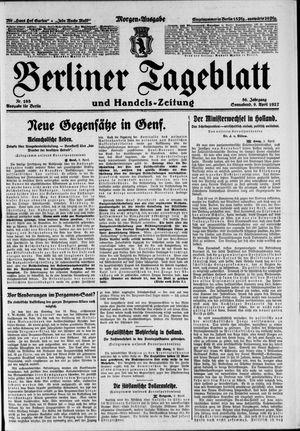 Berliner Tageblatt und Handels-Zeitung vom 09.04.1927