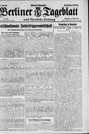Berliner Tageblatt und Handels-Zeitung vom 12.04.1927