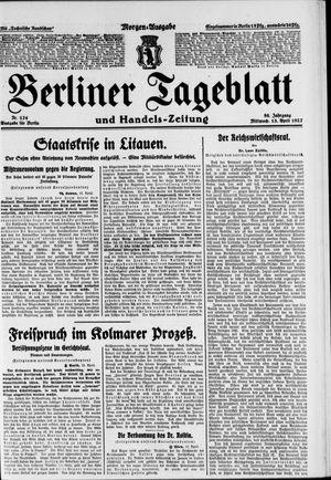 Berliner Tageblatt und Handels-Zeitung vom 13.04.1927