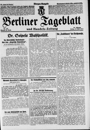 Berliner Tageblatt und Handels-Zeitung on Apr 15, 1927