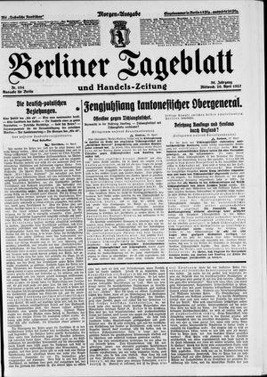 Berliner Tageblatt und Handels-Zeitung vom 20.04.1927