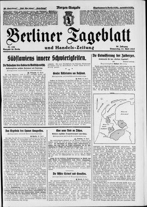 Berliner Tageblatt und Handels-Zeitung vom 21.04.1927