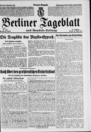 Berliner Tageblatt und Handels-Zeitung vom 22.04.1927