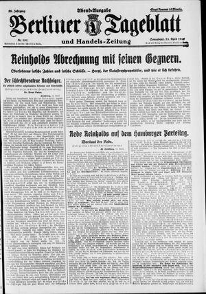 Berliner Tageblatt und Handels-Zeitung vom 23.04.1927