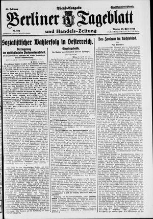 Berliner Tageblatt und Handels-Zeitung vom 25.04.1927