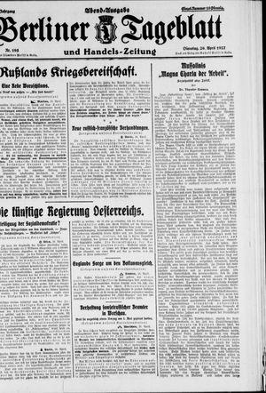 Berliner Tageblatt und Handels-Zeitung vom 26.04.1927