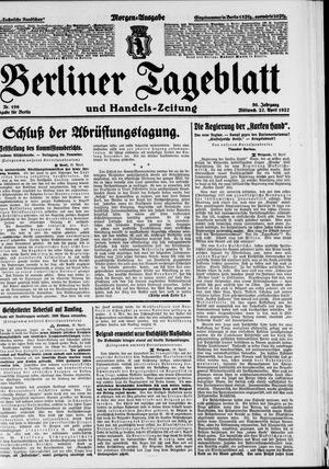 Berliner Tageblatt und Handels-Zeitung on Apr 27, 1927