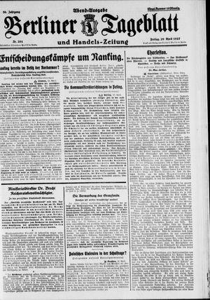 Berliner Tageblatt und Handels-Zeitung vom 29.04.1927