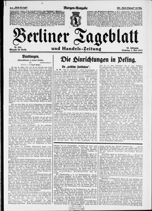 Berliner Tageblatt und Handels-Zeitung vom 01.05.1927